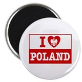 I Love Poland Flag Magnet