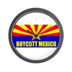 Boycott Mexico Wall Clock