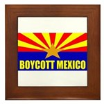 Boycott Mexico Framed Tile