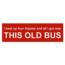 VW Bus Bumper Bumper Sticker