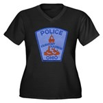 Fairport Police Women's Plus Size V-Neck Dark T-Sh