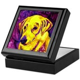 Yellow Lab Keepsake Box