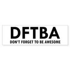 DFTBA Bumper Stickers