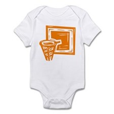 BASKETBALL *10* {orange} Infant Bodysuit