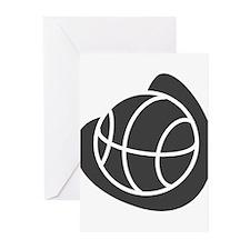 BASKETBALL *20* {gray} Greeting Cards (Pk of 20)