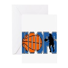 HOOPS *2* {blue} Greeting Cards (Pk of 20)