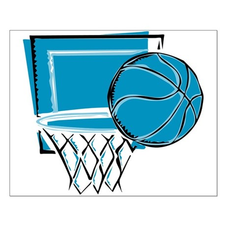 BASKETBALL *52* {blue} Small Poster
