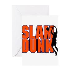 SLAM DUNK *2* {orange/blue} Greeting Card