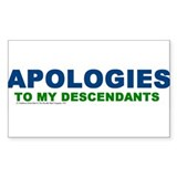 Apologies Rectangle Decal