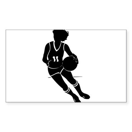 BASKETBALL *61* {black} Sticker (Rectangle)