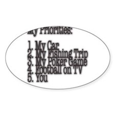 My Priorities Oval Decal