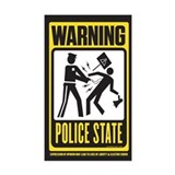 Warning Police State Decal