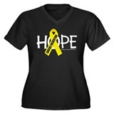 Suicide Prevention Hope Women's Plus Size V-Neck D
