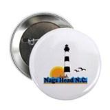 "Nags Head NC - Lighthouse Design 2.25"" Button"