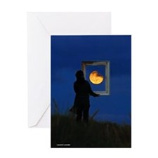 Moon Games Greeting Card