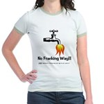 No Fracking Way Jr. Ringer T-Shirt