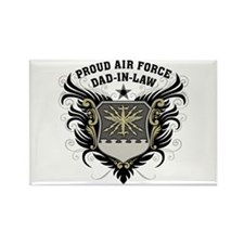 Proud Air Force Dad-in-law Rectangle Magnet