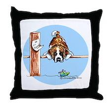 Saint Bernard Fish Throw Pillow