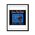 Jordan High School Panthers Framed Panel Print