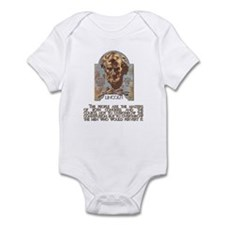 Abraham Lincoln Illustration Infant Bodysuit