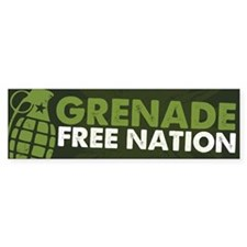 Grenade Free Nation Bumper Sticker