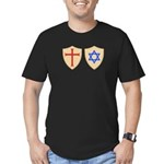 Zionist Crusader Men's Fitted T-Shirt (dark)