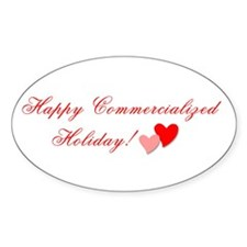 Commercialized Holiday Oval Decal
