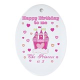 Princess 3rd birthday Ornament (Oval)