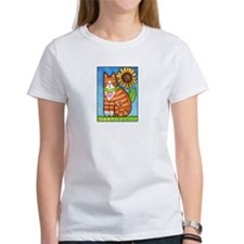GINGER TUX... Women's Cotton T-Shirt
