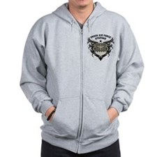 Proud Air Force Stepdad Zip Hoodie