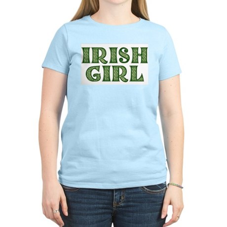 Irish Girl Women's Pink T-Shirt