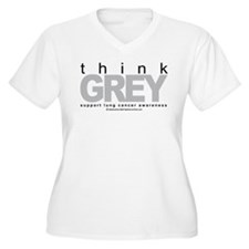 Lung Cancer Think Grey T-Shirt