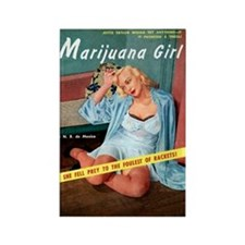 Marijuana Girl! Rectangle Magnet (10 pack)