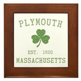 Plymouth MA Framed Tile