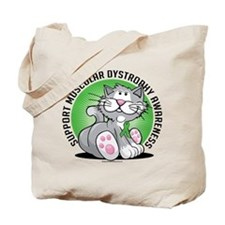 Muscular Dystrophy Cat Tote Bag