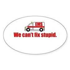 EMS - We can't fix stupid. Decal