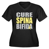 Cure Spina Bifida Women's Plus Size V-Neck Dark T-