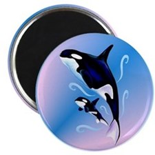 Orca Mom and Baby Magnet