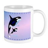 Orca Mom and Baby Coffee Mug