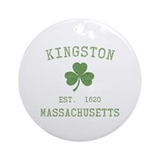 Kingston MA Ornament (Round)