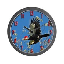 Male Pileated Woodpecker Wall Clock