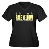 Spina Bifida Think Pale Yello Women's Plus Size V-