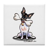 Rat Terrier Bone Tile Coaster