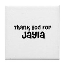 Thank God For Jayla Tile Coaster