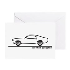 1969 Mustang Fastback Greeting Card