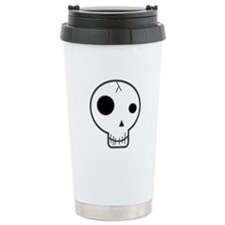 Happy Fun Skull Ceramic Travel Mug
