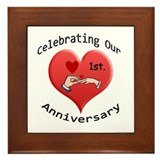 Unique 1st wedding anniversary Framed Tile
