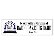 Radio Daze Big Band Bumper Bumper Sticker