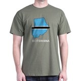 Map Of Botswana T-Shirt