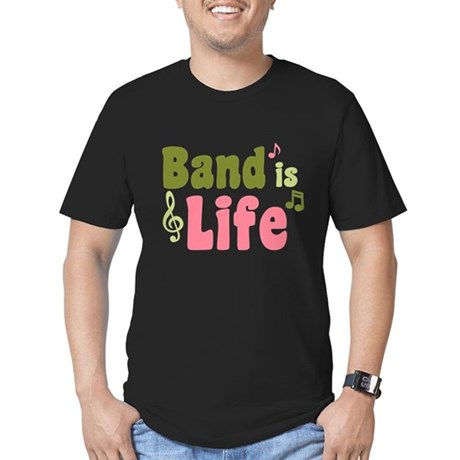 Band is Life Men's Fitted T-Shirt (dark)